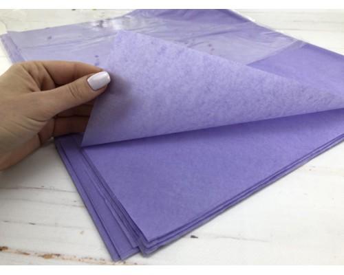 """Бумага упаковочная тишью """"Сиреневая темная"""" 50 см х 66 см, 10 листов"""