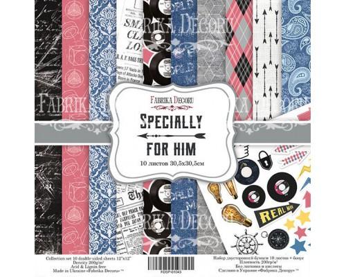 """Набор бумаги """"Specially for him"""", 30,5*30,5см., Фабрика Декора"""