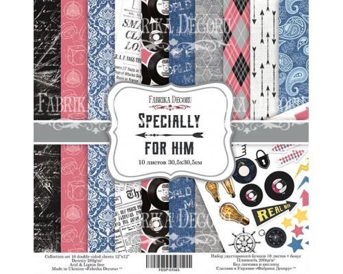 """Набор бумаги """"Specially for him"""", 20*20 см., Фабрика Декора"""