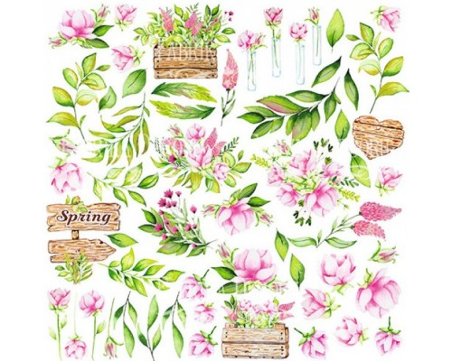 """Лист для вырезания """"Spring Blossom"""" Фабрика Декору"""