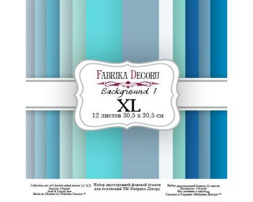 "Набор бумаги ""Backgrounds 1 XL"" 30,5*30,5см., Фабрика Декору"