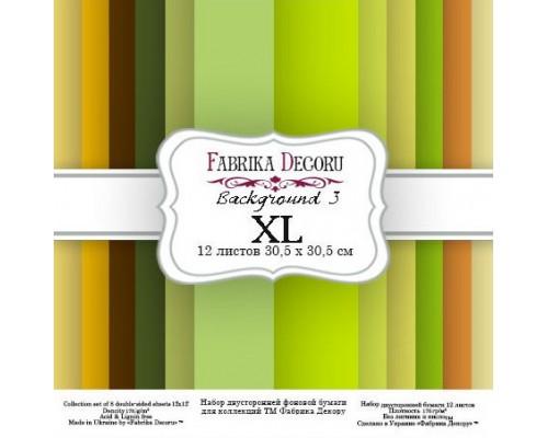 "Набор бумаги ""Backgrounds 3 XL"" 30,5*30,5см., Фабрика Декору"