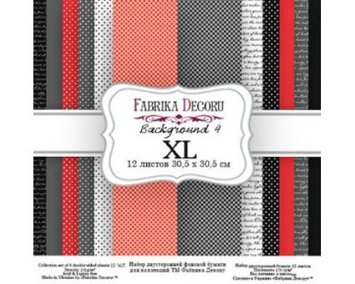 "Набор бумаги ""Backgrounds 4 XL"" 30,5*30,5см., Фабрика Декору"