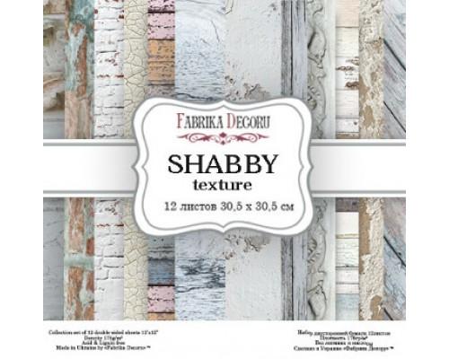 """Набор бумаги """"Shabby Texture"""" 30,5*30,5см., Фабрика Декору"""