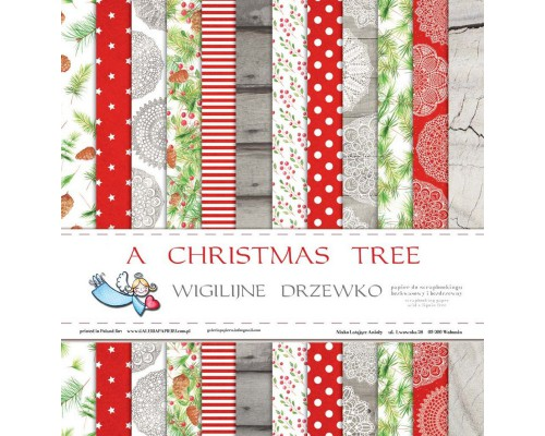 "Набор бумаги ""A Christmas Tree"" 1/2, 6 листов"