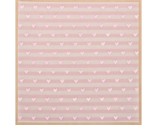 Калька декоративная с фольгированием «Сладкие грёзы», 30,5х30,5 см, 1 лист, Артузор