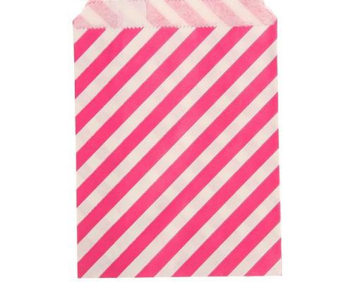 """Пакет фасовочный """"Полоска"""" розовый, 13 х 18 см, 1 шт"""