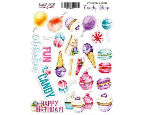 """Набор наклеек (стикеров) #018, """"Candy shop"""", Фабрика Декору"""