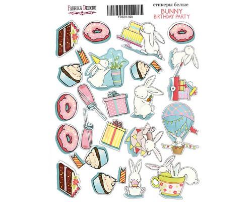 """Набор наклеек (стикеров) #025, """"Bunny birhtday party-1"""", Фабрика Декору"""