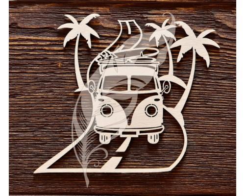 "Чипборд ""Автобус""  Art lines"