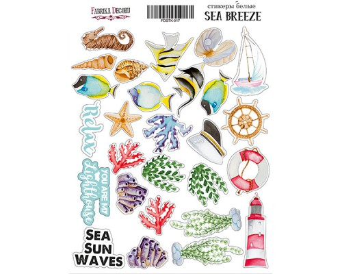 "Набор наклеек (стикеров) #017, ""Sea breeze"", Фабрика Декору"