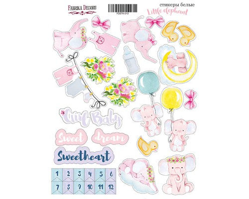 "Набор наклеек (стикеров) #013, ""Little elefant"", Фабрика Декору"