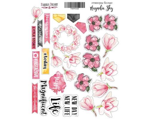 """Набор наклеек (стикеров) #022, """"Magnolia Sky"""", Фабрика Декору"""
