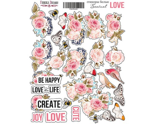 "Набор наклеек (стикеров) #001, ""Sensual Love"", Фабрика Декору"