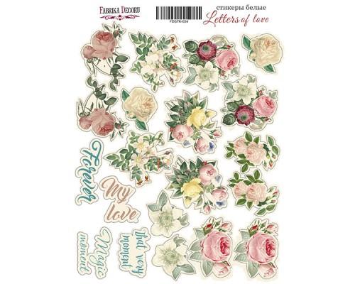 "Набор наклеек (стикеров) #024, ""Letters of love"", Фабрика Декору"