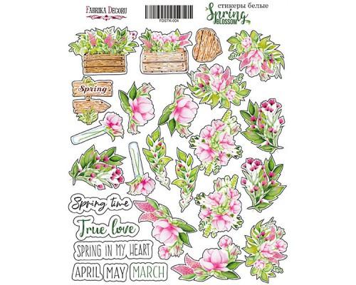 "Набор наклеек (стикеров) #004,""Spring blossom"", Фабрика Декору"
