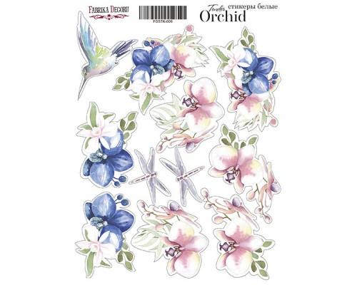 "Набор наклеек (стикеров) #009, ""Tender orchid-2"", Фабрика Декору"
