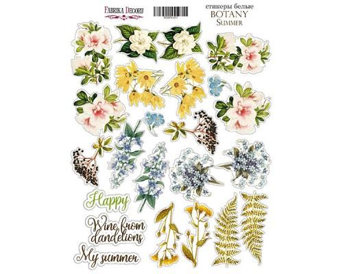 """Набор наклеек (стикеров) #011, """"Botany summer"""", Фабрика Декору"""