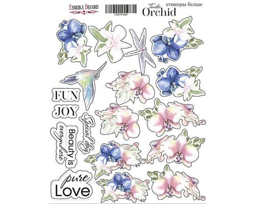 "Набор наклеек (стикеров) #005,""Tender orchid"", Фабрика Декору"