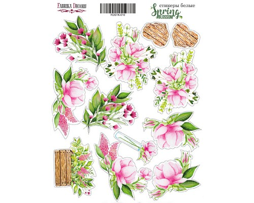 "Набор наклеек (стикеров) #010, ""Spring blossom"", Фабрика Декору"