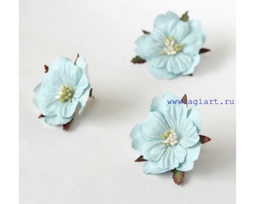 Бумажный Пион, голубой светлый 1 шт