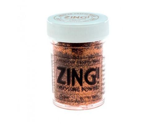 """Пудра для эмбоссинга с глиттером """"Медь"""" Copper Zing!"""