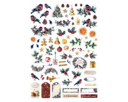 """Высечки бумажные """"Новогоднее счастье"""" ScrapMania"""