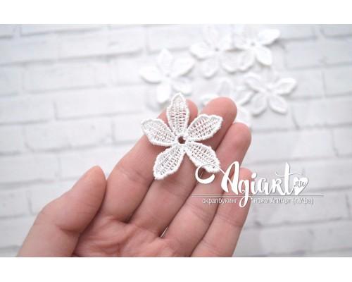 Кружевной Цветок белый, 1 шт