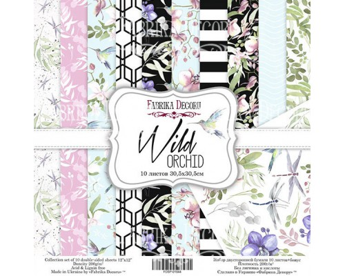 "Набор бумаги ""Wild Orchid"", 30*30 см., Фабрика Декора"