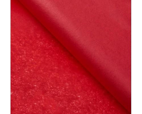 """Бумага упаковочная тишью """"Красный"""" 50 см х 66 см, 10 листов"""