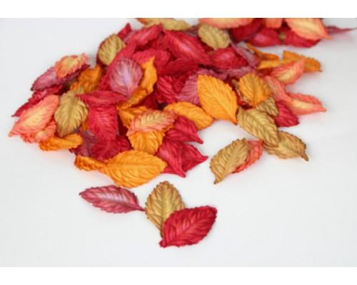 """Листья """"Осенний микс"""" красный, 4*2,5 см, 10шт"""