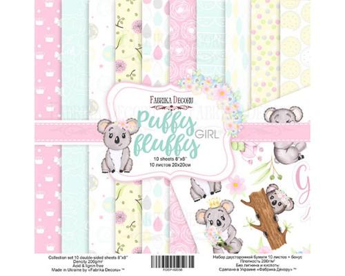 """Набор бумаги """"Puffy fluffy Girl"""", 20*20 см., Фабрика Декора"""