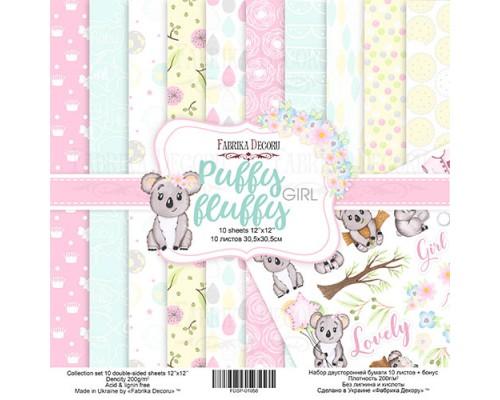 """Набор бумаги """"Puffy Fluffy Girl"""", 30,5*30,5см., Фабрика Декора"""