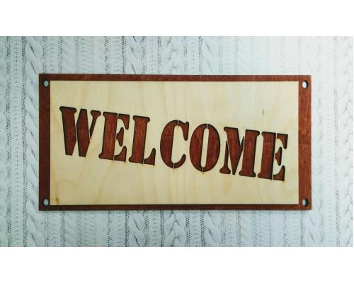 """Деревянная интерьерная надпись """"Welcome"""""""
