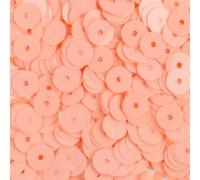 "Пайетки глянцевые ""Розово-персиковый"", 6 мм"