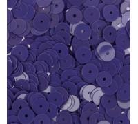 """Пайетки глянцевые  """"Темно-фиолетовый"""", 6 мм"""