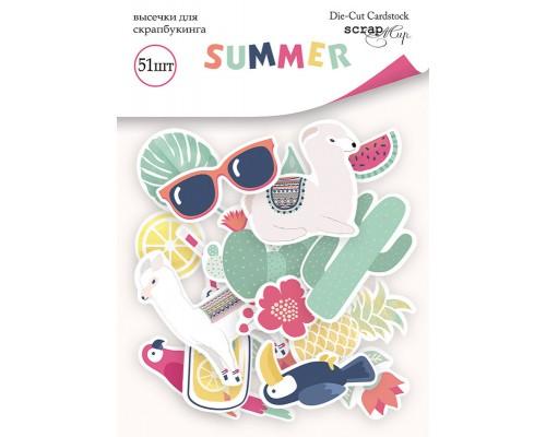 """Высечки бумажные """"Summer"""" 51шт., Scrapmir"""