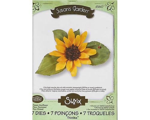 "Нож для вырубки ""Sunflower"" Susan's Garden Collection от Sizzix"