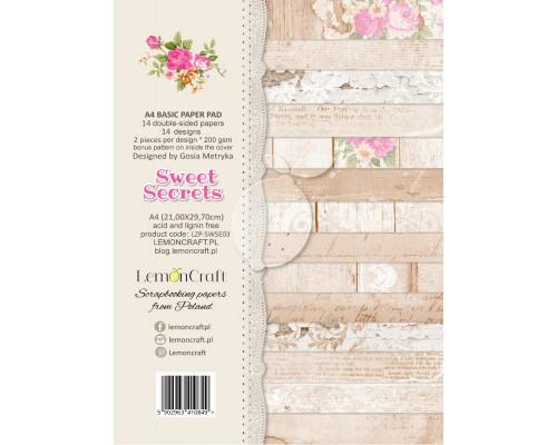 "Набор бумаги ""Sweet Secrets"" A4 , 1/2 набора, 7 листов, LemonCraft"