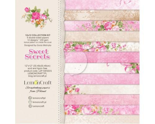 """Набор бумаги """"Sweet Secrets"""" 30*30 см 6 листов Lemoncraft"""