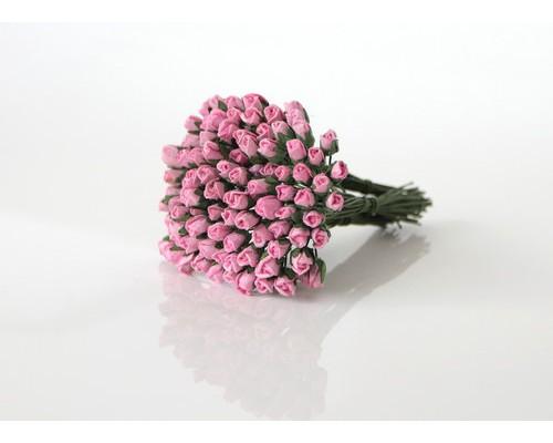 Бутоны роз мини Розовые, 10 шт