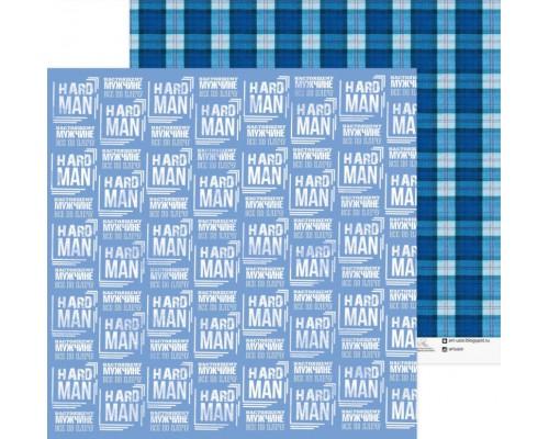 """Бумага двусторонняя """"Hard man"""" 30.5 x 30.5 см Артузор"""