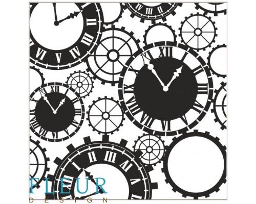 "Набор штампов ""фоновый. часы"" FLEUR-design"