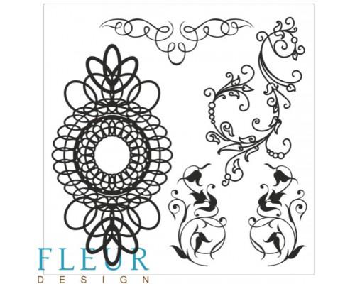 """Набор штампов """"Завитки"""" FLEUR-design"""
