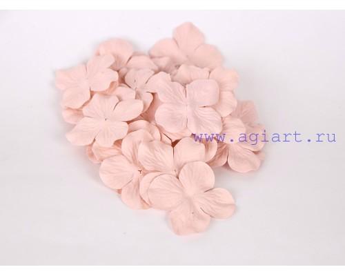 Гортензии розово-персиковые светлые 5 см 10 шт