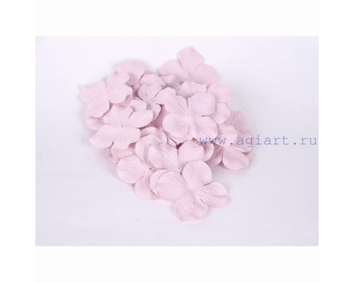 Гортензии розовые светлые 5 см 10 шт