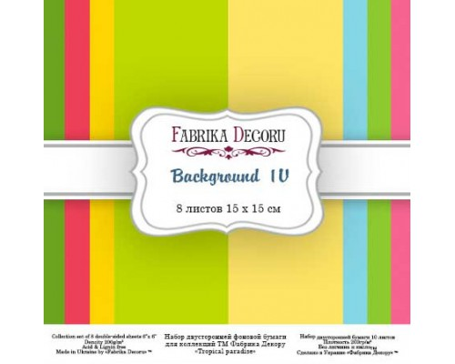 "Набор бумаги ""Backgrounds 4"", 15*15 см., Фабрика Декора"