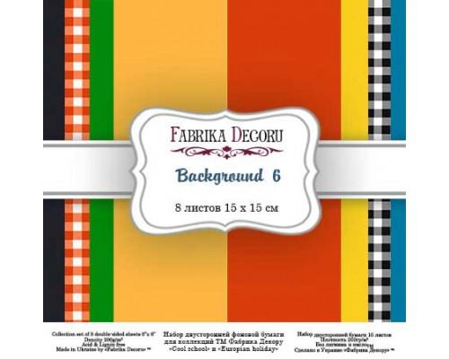 "Набор бумаги ""Backgrounds 6"", 15*15 см., Фабрика Декора"