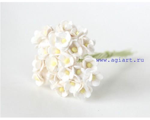 """Цветы вишни МИНИ """"Белые"""", 25 шт"""