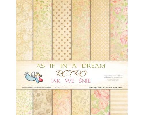 "Набор бумаги ""As if in a dream RETRO"" 30*30 см 6 листов 1/2 полного набора GP"